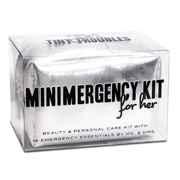We love this Minimergency Kit from Mr & Mrs!