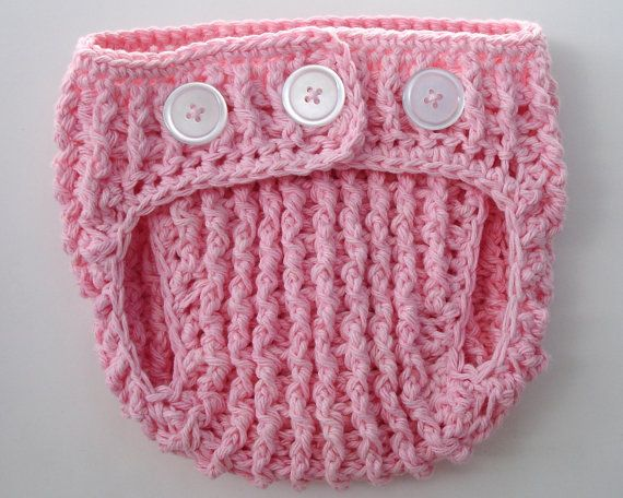 Crochet Pattern for Unisex Babycake Cupcake Diaper Cover - 3 size...