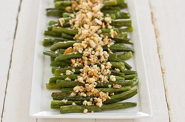 Green Beans with Lemon-Almond Pesto | Sides | Pinterest