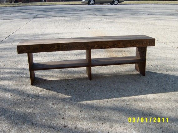 wooden bench 5 farmhouse style