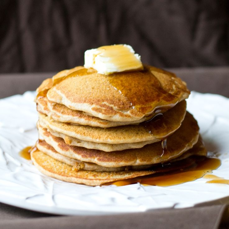 Fluffy Buckwheat Pancakes with hints of cinnamon and vanilla. Melt-in ...