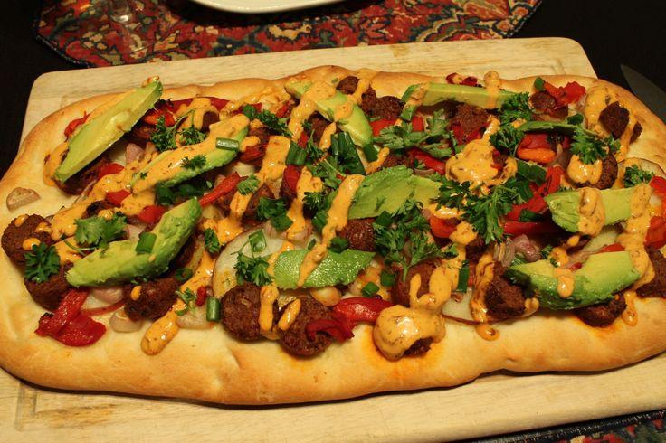 """Mexican """"Flatbread"""" Pizza Recipe — Dishmaps"""