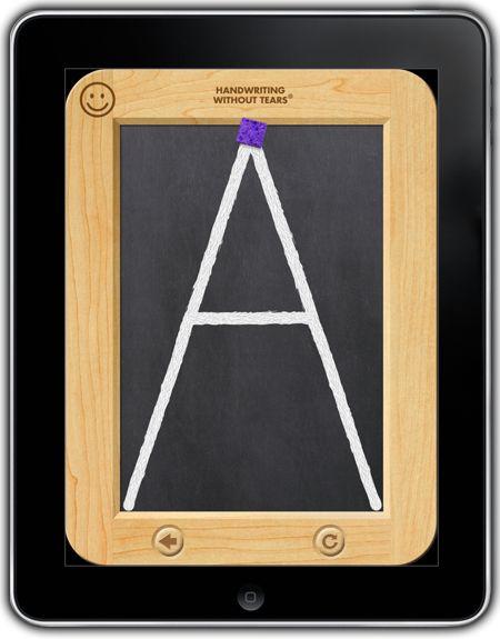 iPad App | Handwriting Without Tears  I really really want an ipad!