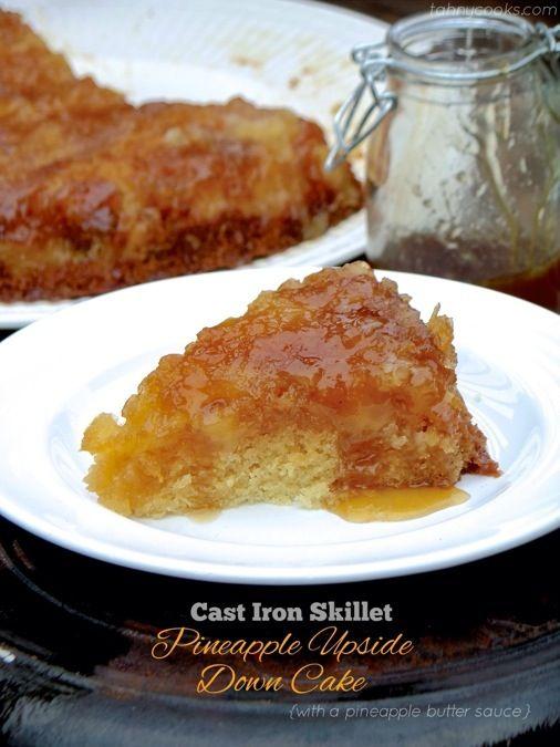 Cast Iron Skillet Pineapple Upside Down Cake @Tahny Hughes Lowry