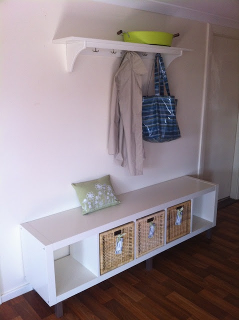 ikea expedit hack bench and storage d co pinterest