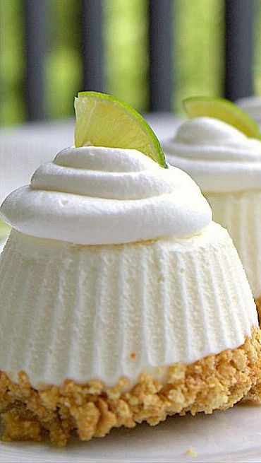 Individual Frozen Key Lime Pies....frozen in silicone cupcake liners ...