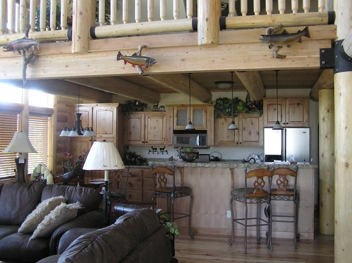 Log Home Interior  home stuff  Pinterest