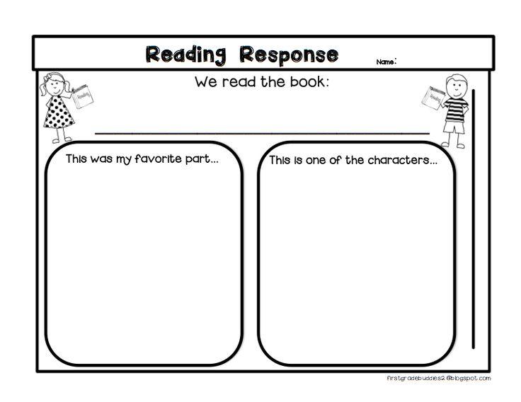 ... Reading Response Sheet | Teaching - ELA: Graphic Organizers | Pin