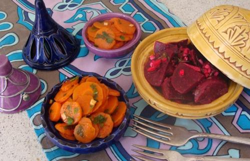 Moroccan Carrot Salad and Moroccan Beets Salad