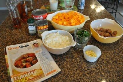 Aaron Sanchez's Turkey Chili Verde w/Hominy & Squash