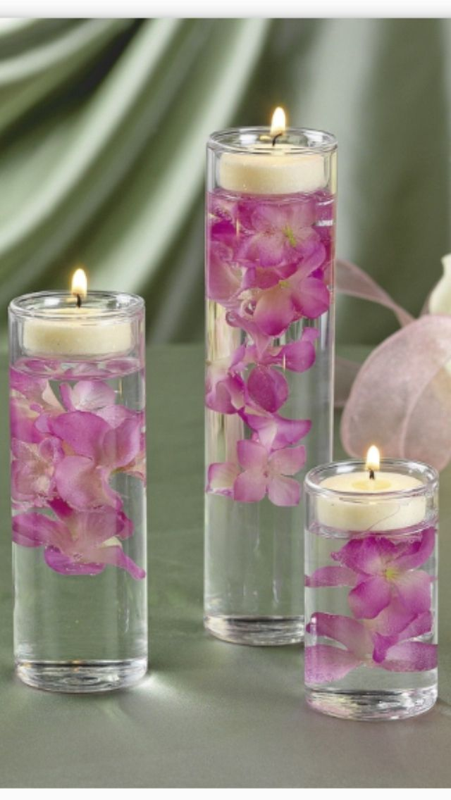 Floating candles and flower centerpiece wedding ideas pinterest