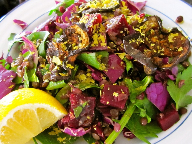 beet and cabbage salad with lentils | Dinner | Pinterest