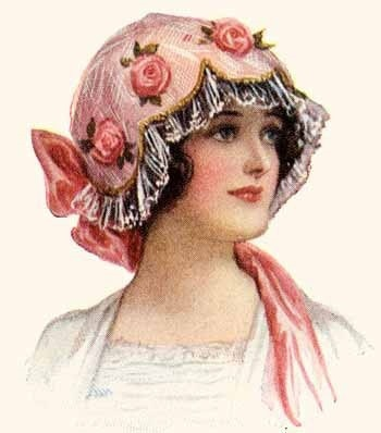 Rose hat lady