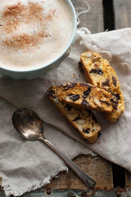 Chocolate cherry almond biscotti   Sweets!   Pinterest