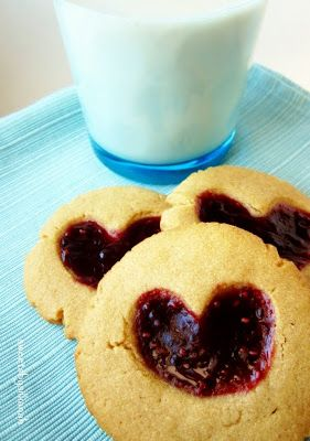 Peanut Butter & Jam Heart Cookies | Been There, Done That (Pins I've ...