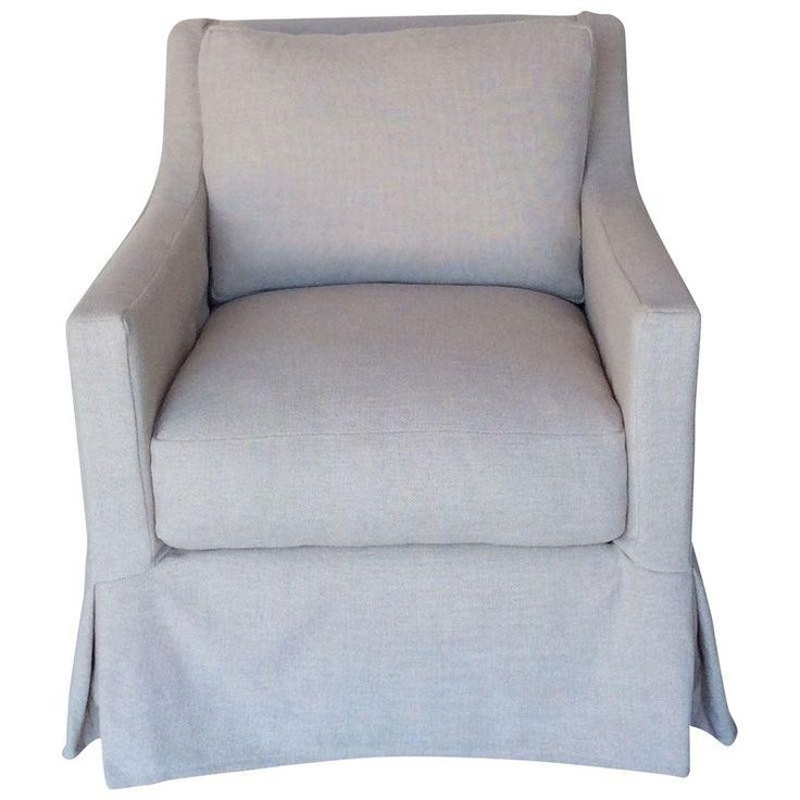 Slim Track Arm Slipcover Chair