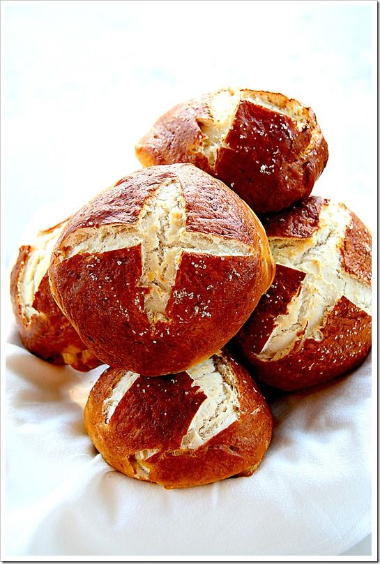 Pretzel buns..these are awesome a bar up north serves these..im hooked