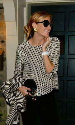 Everyday Glamour classy black and white outfit...