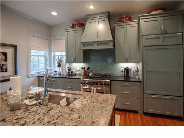 green gray cabinets kitchens pinterest