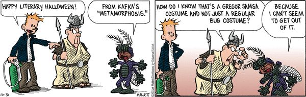 Frazz  One of the few times you'll see Kafka in the comic section