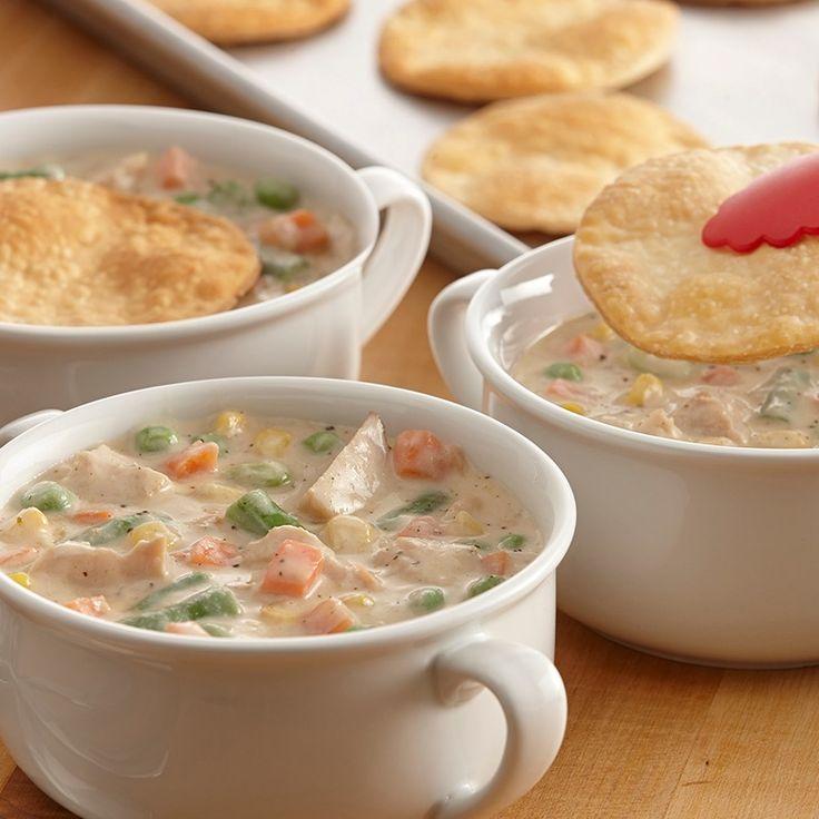 Sage and Turkey Pot Pie Soup | Recipe