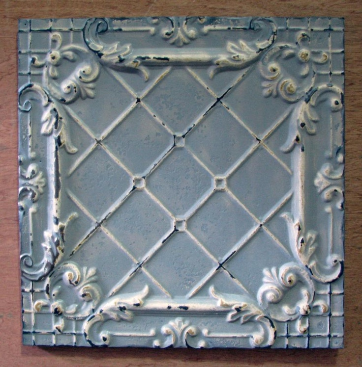 pressed tin ceiling tiles.  Pressed Tin  Pinterest