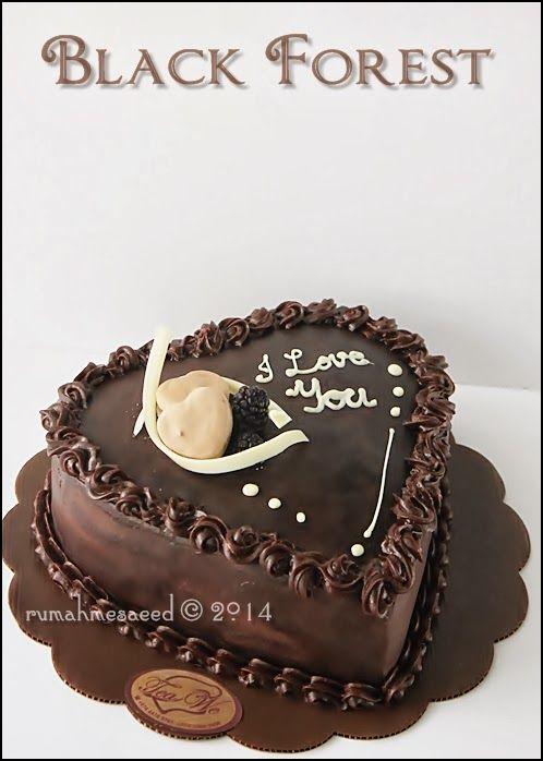 Black Forest Cake Decoration Images : Black Forest Cake - Heart Shape Cake Decorating Idea ...