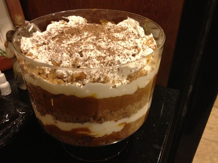 Thanksgiving pumpkin trifle | Trifle Recipes | Pinterest
