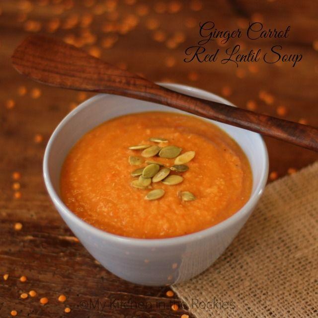 Ginger Carrot Red Lentil Soup | Make // Eat | Pinterest