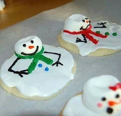 Cute Christmas Cookie Idea Recipes Desserts Pinterest