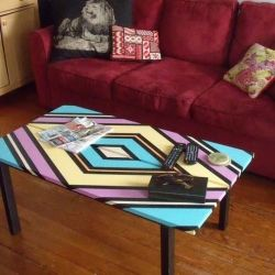 A simple project for giving a clean modern look to an old worn out coffee table.