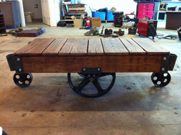 Antique Warehouse Cart Coffee Table We Can Do It Yes We Can P