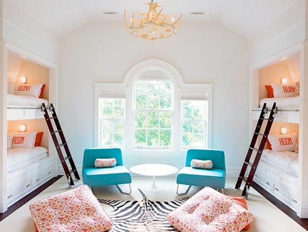 bunk beds built into the walls home sweet home pinterest. Black Bedroom Furniture Sets. Home Design Ideas