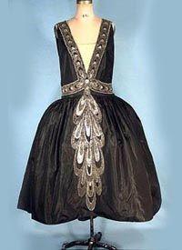 1926-27 Lanvin Beaded Silk Robe de Style