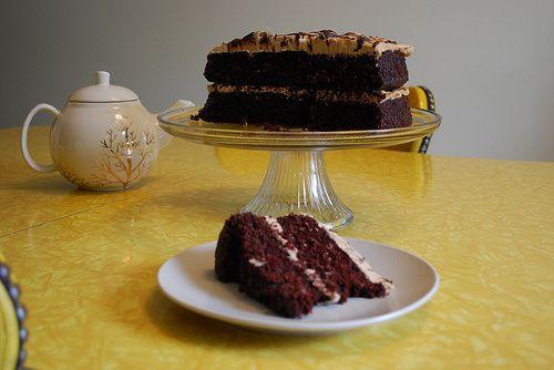 Mocha Almond Fudge Cake (vegan and easily gluten free)