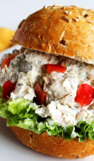 Feta Dill Chicken Salad Sandwiches | Main Dish | Pinterest