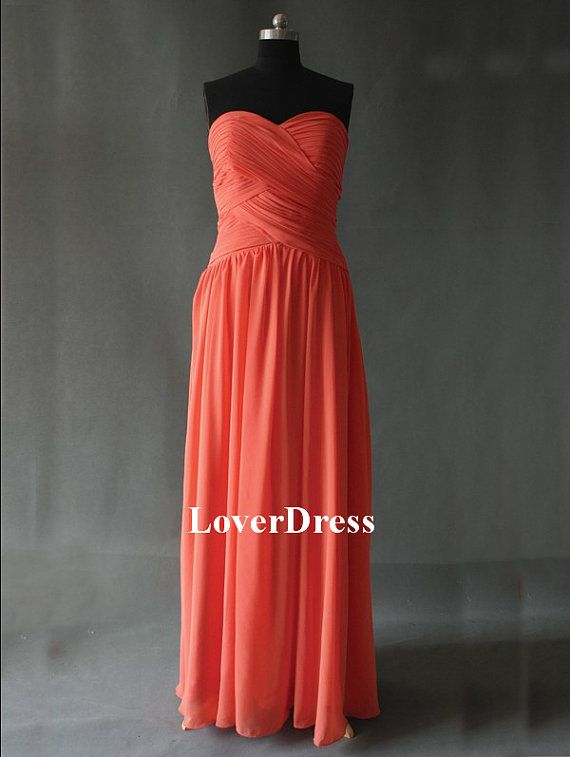 Coral Colored Bridesmaid Dresses Coral Bridesmaid