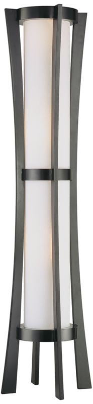 Possini Euro Design Concave Tower Torchiere Floor Lamp