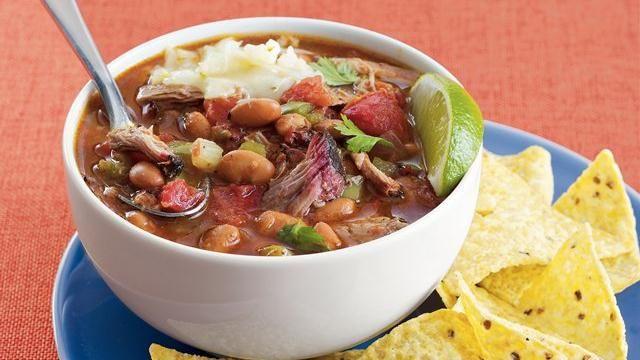 Smoky Pork and Pinto Bean Chili | Recipe