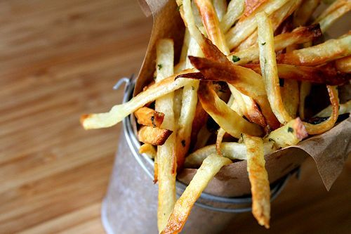 Garlic & Herb Matchstick French Fries....via A cup of Sugar ... A ...