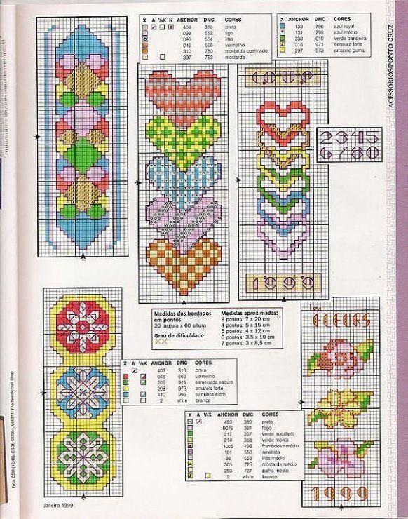 Вышивка закладок схемы 192