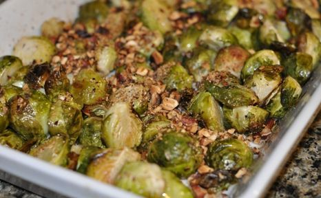 Roasted Brussels Sprouts with Hazelnut Brown Butter - Maybe almonds ...