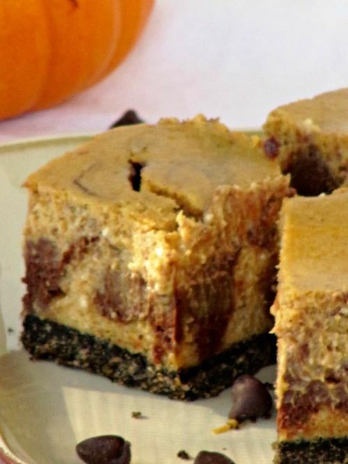 Chocolate Pumpkin Cheesecake Bars | Cheesecake | Pinterest