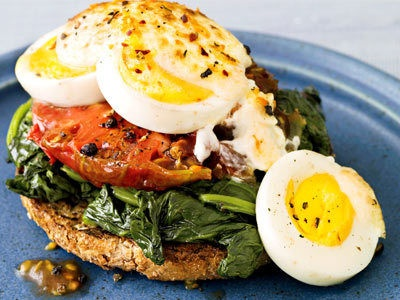 Open-Face Egg Sandwich | Food | Pinterest