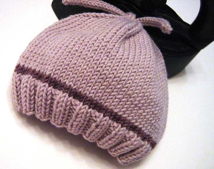 Knitting Pattern For Neonatal Hats : pdf Knitting Pattern - Infant Baby Newborn Knit Hat - Welcome Home Sw?