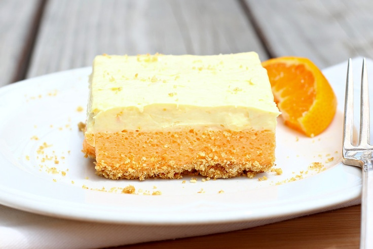 Orange Creamsicle Cake Bars