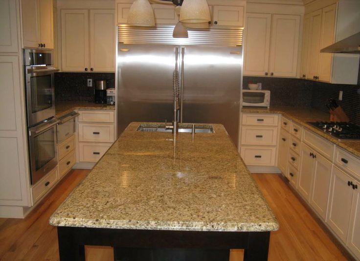 new venetian gold granite backsplash kitchen pinterest