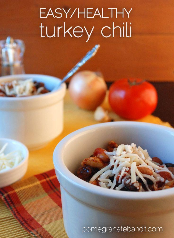 easy/healthy turkey chili | Soups | Pinterest