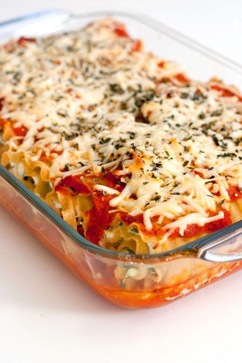 Spinach Lasagna Rolls Recipe — Dishmaps