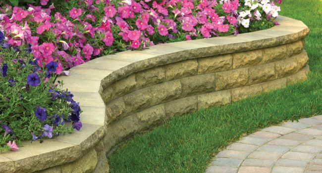 Stone Flower Bed : Raised, stone flower bed  Gardening  Pinterest
